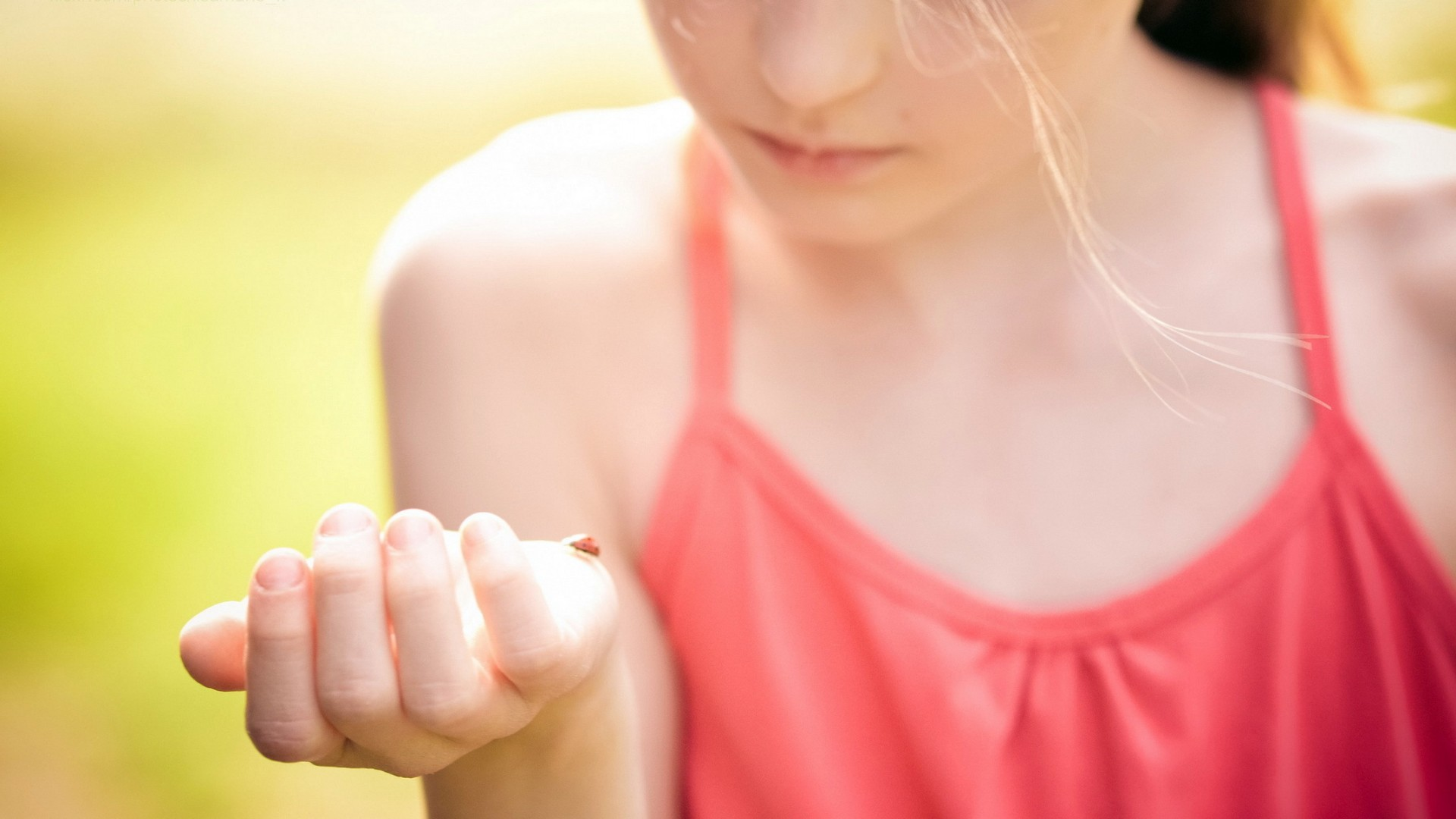 little-girl-in-red-with-a-ladybug-on-hand