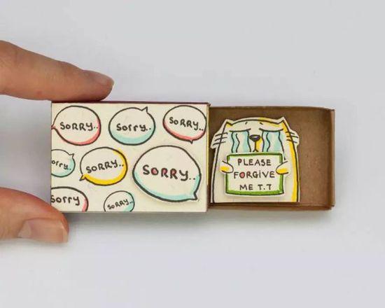 創意無限!又萌又可愛的火柴盒,閒來沒事